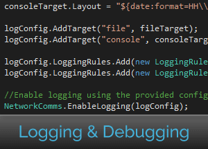 Easily enable logging using .net network library.