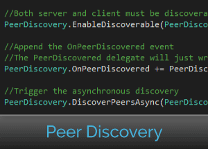 Easy network peer discovery using C# network library