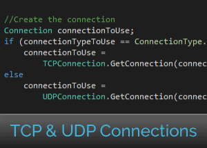 TCP & UDP connections using network library