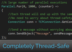 Completely thread-safe API